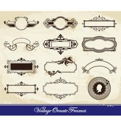 vector set of vintage frames vector image vector image
