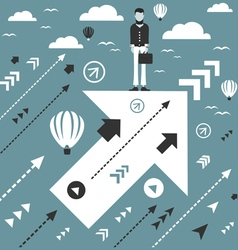 Abstraction business arrow vector