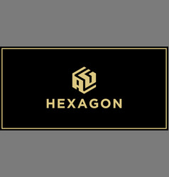 ag hexagon logo vector image