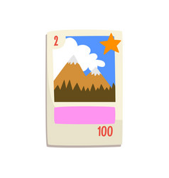board game card with mountains vector image