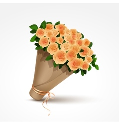 bouquet yellow roses isolated vector image