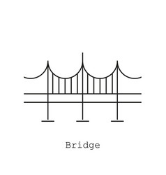 bridge icon in the flat style on a white vector image