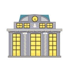 Building Decorated Garlands vector