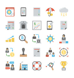 Business colored icons set vector