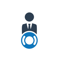 Business help icon vector