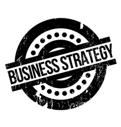 Business strategy rubber stamp vector