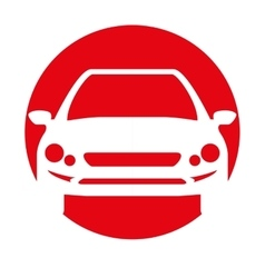 car transport white silhouette icon vector image
