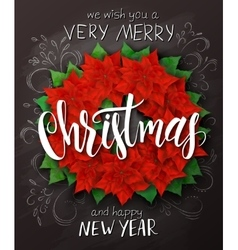 christmas poster with christmas decoration vector image
