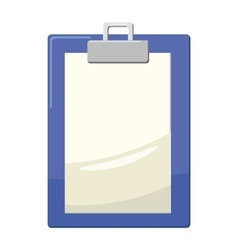 Clipboard with blank paper icon cartoon style vector image
