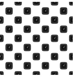 clock wall pattern seamless vector image