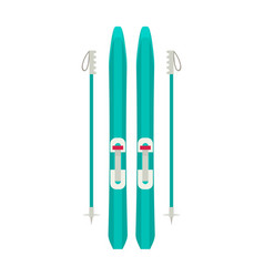 Colorful sport winter ski isolated vector