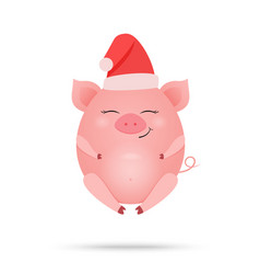 cute pig cartoon isolated vector image