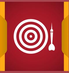 Dart icon vector