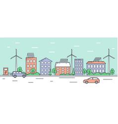 eco friendly urban landscape vector image