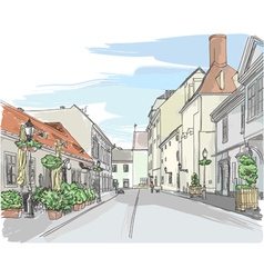 European city street vector
