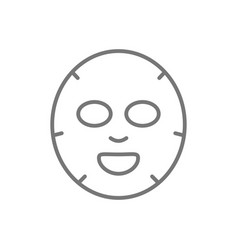 Facial sheet cosmetic mask icon isolated on white vector