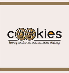 food logotype with cookies vector image
