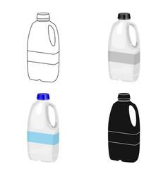 Gallon plastic milk bottle icon in cartoon style vector