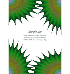 Green colorful page corner design template vector image