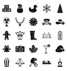 Guys icons set simple style vector