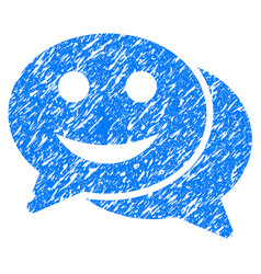 happy chat grunge icon vector image