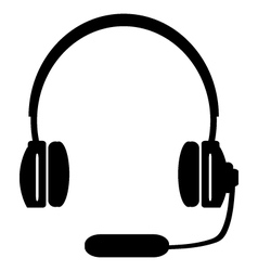 Headphones vector
