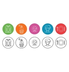 Home and Hygiene Icons vector image