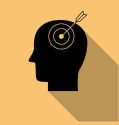 Human mind black iconpurpose symbol with long vector