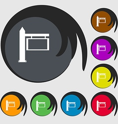 Information road sign icon sign symbols on eight vector