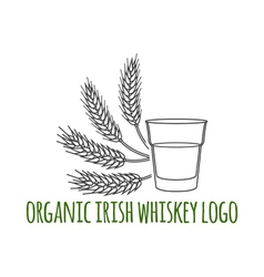 Irish whiskey vector