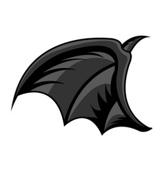 Isolated bat wing tattoo vector