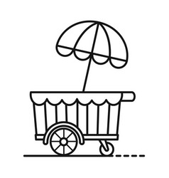 Kiosk and cart icon vector