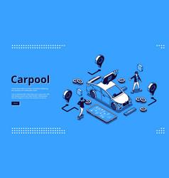 landing page carpool service vector image