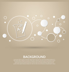 letter page text icon on a brown background with vector image