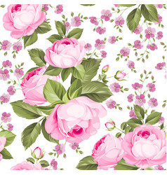 Luxurious color roses seamless pattern vector