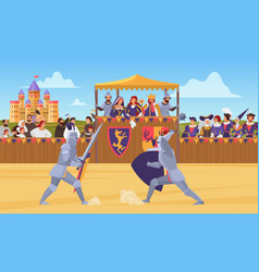 Medieval knight tournament vector