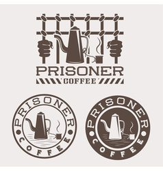 prisoner coffee concept design template vector image