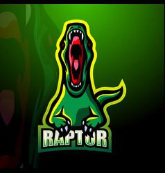 raptor mascot logo design vector image