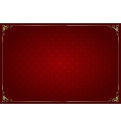 Red background chinese style and gold decoration vector