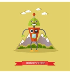 Robot guide flat design vector
