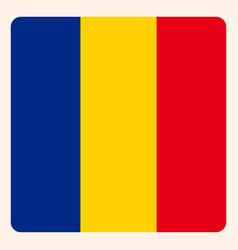 Romania square flag button social media vector
