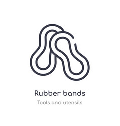 Rubber bands outline icon isolated line from vector