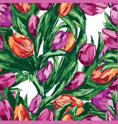 seamless background of the bouquets of drawn vector image