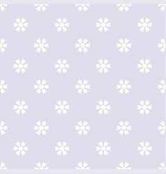 seamless pattern with snowflakes gray white vector image