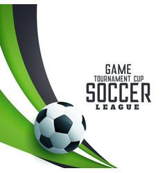 Soocer tournament league football background vector