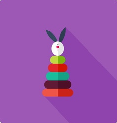Stacking toy flat vector