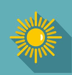 Sun icon flat style vector