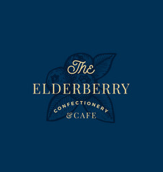 The elderberry confactionary and cafe abstract vector