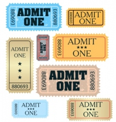 Tickets: admit one vector