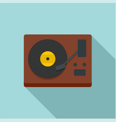 vinyl player icon flat style vector image